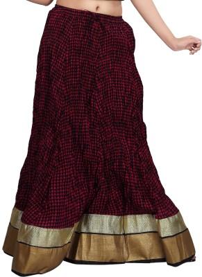 Carrel Printed Women's Broomstick Pink Skirt