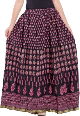 Decot Paradise Printed Women's Regular Black Skirt