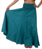 Skirts & Scarves Solid Women's A-line Bl...
