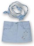 Lilliput Solid Girls Regular Blue Skirt