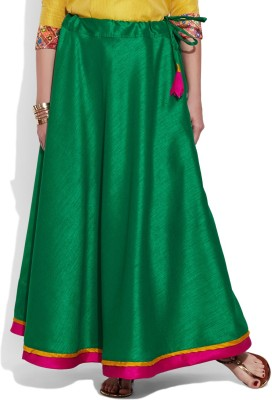 Very Me Solid Women's A-line Green Skirt