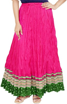 Rangreja Solid Women's A-line Pink Skirt