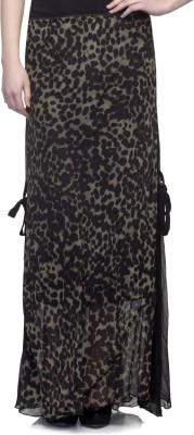 One Femme Paisley Women's A-line Black Skirt