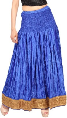 Carrel Embroidered Women's Wrap Around Blue Skirt