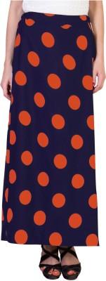 Essential Elements Polka Print Women's Gathered Orange Skirt
