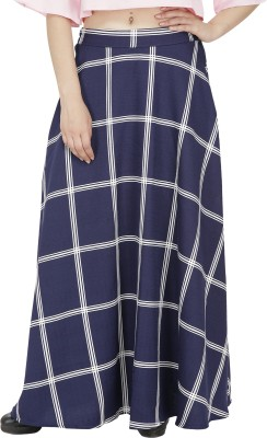 FASHMODE Solid Women's A-line Blue Skirt