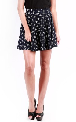 Change360? Printed Women's Gathered Blue Skirt