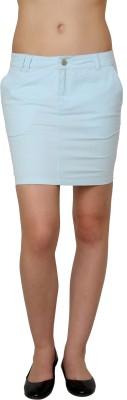 Pankhuri For Women Solid Women's Tube Blue Skirt