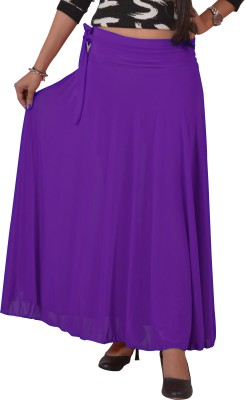 Ace Solid Women's A-line Purple Skirt