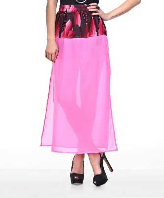 Yepme Printed Women's A-line Pink Skirt at flipkart