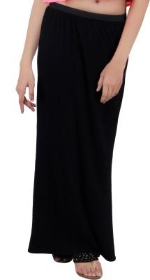 Annies Fab Solid Women's Pencil Black Skirt