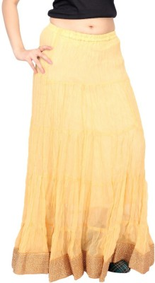 Carrel Solid Women's Wrap Around Beige Skirt