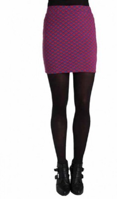 Paramita Argyle Women's Pencil Blue Skirt
