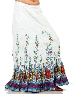 Ambika Ecommerce Printed Women's Regular Multicolor Skirt