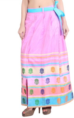 Indian Artizans Paisley Women's Pleated Multicolor Skirt