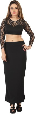Bfly Solid Women's Straight Black Skirt
