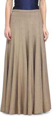 Just Wow Solid Women's A-line Brown Skirt