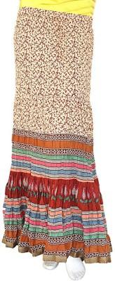 Jaipur Raga Printed Women's Regular Maroon Skirt