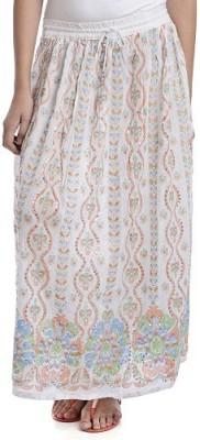 PINK SISLY Printed Women's Layered White Skirt