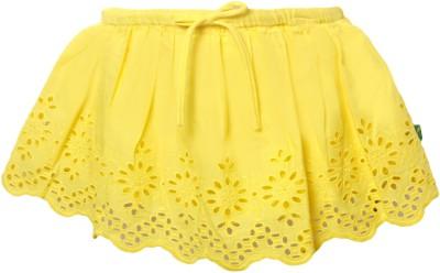 Vitamins Embroidered Girl's Regular Yellow Skirt
