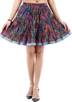 Desert Eshop Printed Women's A-line Purple Skirt