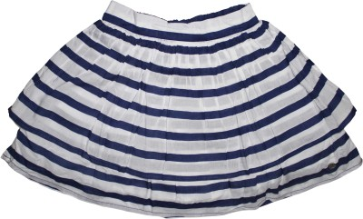 FS Mini Klub Striped Girl's A-line Dark Blue Skirt