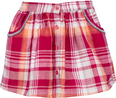Buttercups Checkered Girls A-line Red Skirt