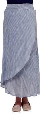 Oxolloxo Printed Women's A-line Blue Skirt at flipkart