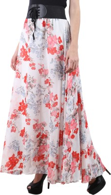 Raabta Fashion Floral Print Women's Regular Multicolor Skirt