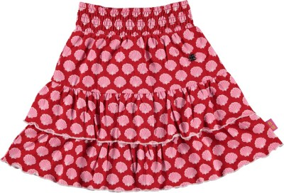 Bakery Babes Printed Girl's A-line Red Skirt