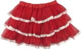 Hunny Bunny Solid Girls Layered Red Skir...