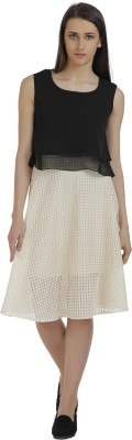 Holidae Solid Women's Regular Beige Skirt