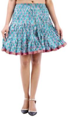 Vivancreation Embroidered Women's Regular Blue Skirt