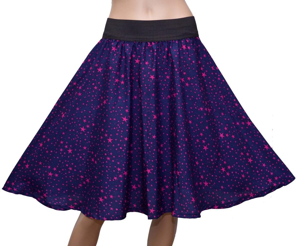 GraceDiva Printed Womens Gathered Blue Skirt