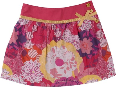 ShopperTree Printed Girl's A-line Multicolor Skirt