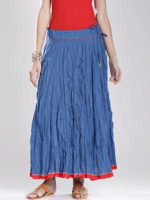 Fabindia Solid Women's A-line Blue Skirt