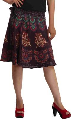Indi Bargain Animal Print Women's Wrap Around Multicolor Skirt