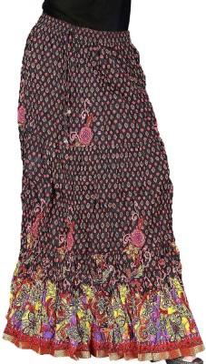 Jaipur Raga Floral Print Women's Regular Multicolor Skirt