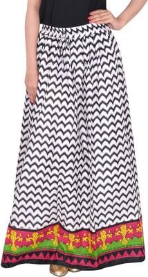 Bright & Shining Graphic Print Women's A-line Black Skirt