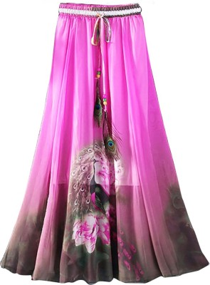 Jassu Fashion Hub Printed Women,s Regular Pink Skirt