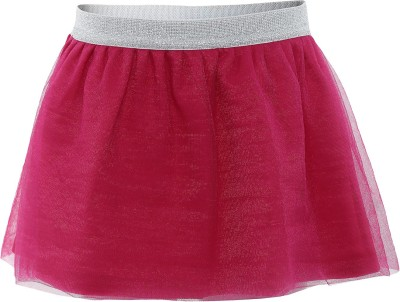 FS Mini Klub Printed Girl's A-line Pink Skirt