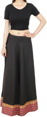 Shopatplaces Self Design Women's Regular Black Skirt