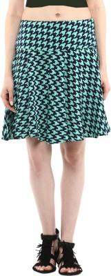 Abiti Bella Houndstooth Women's Regular Green Skirt