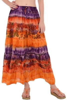 Skirts & Scarves Floral Print Women's A-line Multicolor Skirt