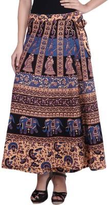 fashionmandi Animal Print Women's Wrap Around Multicolor Skirt
