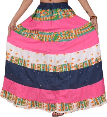 Skirts & Scarves Printed Women's A-line Multicolor Skirt