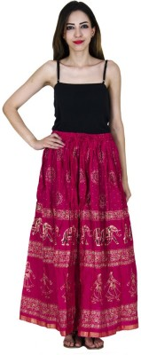 Home Shop Gift Printed Women,s Straight Pink Skirt