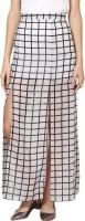 Abiti Bella Checkered Womens Straight White Skirt