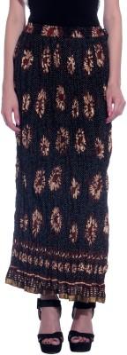 Honeybum Printed Women's Straight Brown Skirt