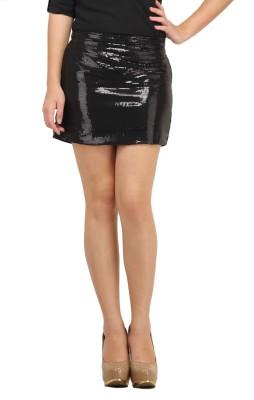 Cation Embellished Women's Pencil Black Skirt